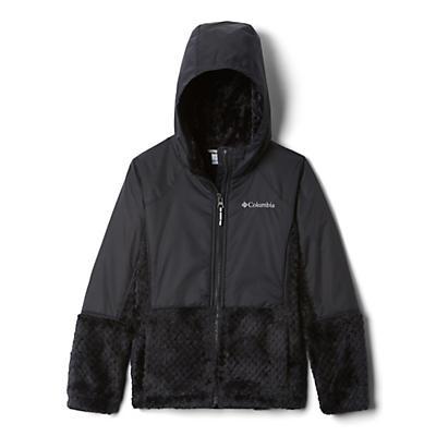 Columbia Youth Girls Fluffy Fleece Hybrid Full Zip Jacket - Black