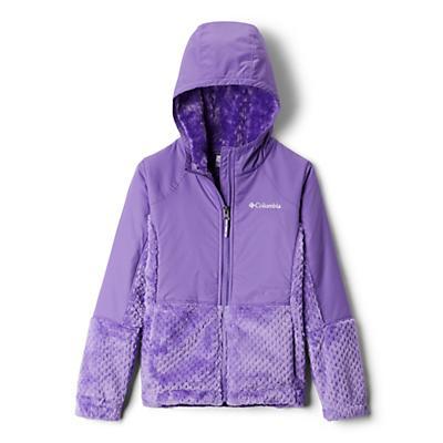 Columbia Youth Girls Fluffy Fleece Hybrid Full Zip Jacket - Grape Gum