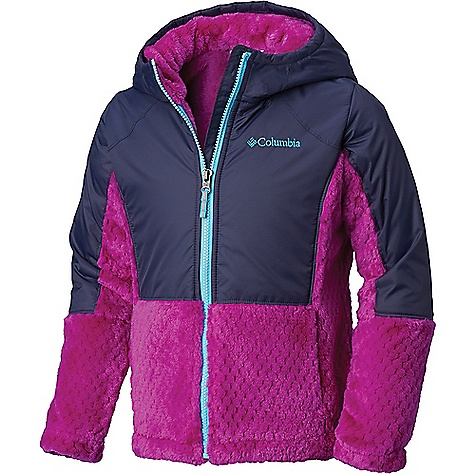 Columbia Youth Girls Fluffy Fleece Hybrid Full Zip Jacket