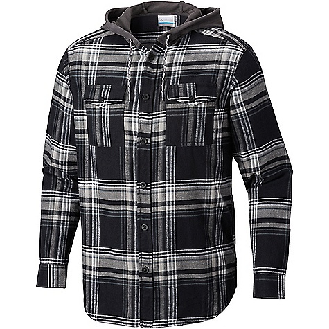 Columbia Men's Flare Gun Flannel Hoodie Black Multi Plaid Columbia Men's Flare Gun Flannel Hoodie - Black Multi Plaid - in stock now. FEATURES of the Columbia Men's Flare Gun Flannel Hoodie Drawcord adjustable hood Button closure chest pocket