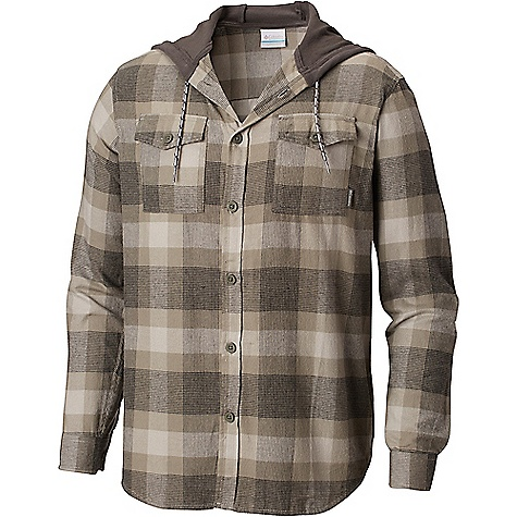 Columbia Men's Flare Gun Flannel Hoodie Boulder Check Columbia Men's Flare Gun Flannel Hoodie - Boulder Check - in stock now. FEATURES of the Columbia Men's Flare Gun Flannel Hoodie Drawcord adjustable hood Button closure chest pocket