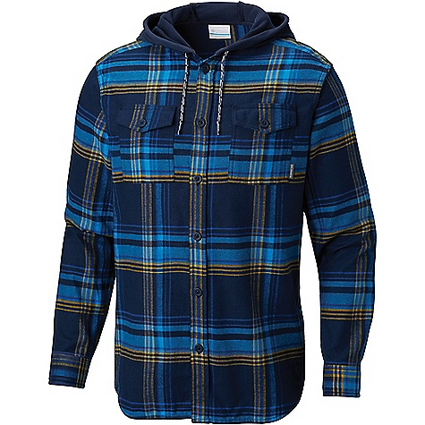 Columbia Men's Flare Gun Flannel Hoodie Collegiate Navy Multi Plaid Columbia Men's Flare Gun Flannel Hoodie - Collegiate Navy Multi Plaid - in stock now. FEATURES of the Columbia Men's Flare Gun Flannel Hoodie Drawcord adjustable hood Button closure chest pocket