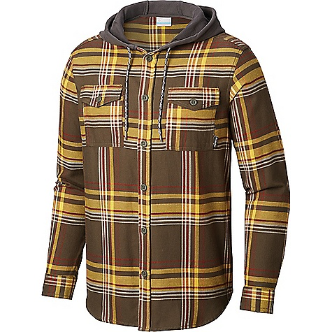 Columbia Men's Flare Gun Flannel Hoodie Peatmoss Multi Plaid Columbia Men's Flare Gun Flannel Hoodie - Peatmoss Multi Plaid - in stock now. FEATURES of the Columbia Men's Flare Gun Flannel Hoodie Drawcord adjustable hood Button closure chest pocket