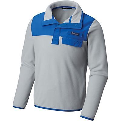 Columbia Youth Harborside Overlay Fleece Top - Cool Grey / Vivid Blue