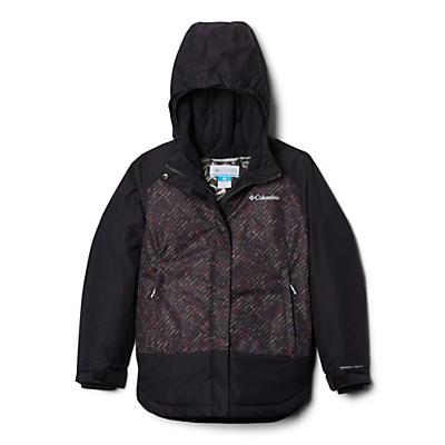 Columbia Youth Girls Mighty Mogul Jacket - Black Diagonal Check