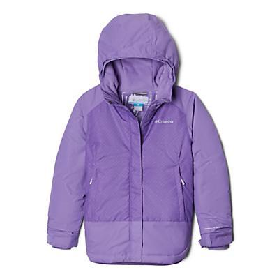 Columbia Youth Girls Mighty Mogul Jacket - Grape Gum Diagonal Check/Paisley Purple