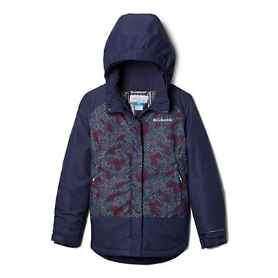 Columbia Youth Girls Mighty Mogul Jacket - Nocturnal Diagonal Check/Nocturnal
