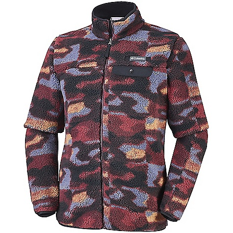 Columbia Men's Mountain Side Heavyweight Full Zip Fleece Jacket Elderberry Camo