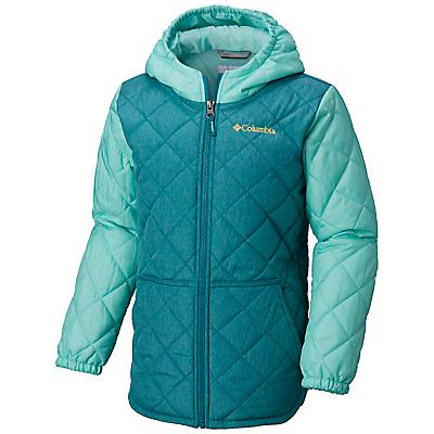 Columbia Youth Girls Puffect Jacket - Emerald Hthr / Pixie