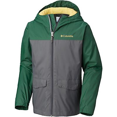 Columbia Youth Boys Rain Zilla Jacket - Large - Grill / Forest