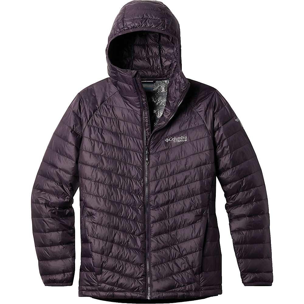 Top Columbia Mens Snow Country Hooded Jacket - Medium - Dark Purple