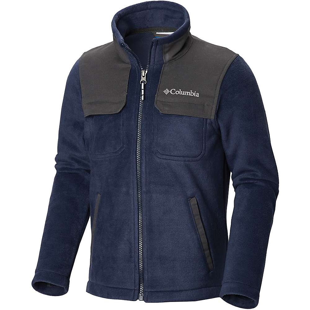 707a57f50f8 Columbia Youth Boys Steens Mountain Novelty Full Zip Fleece Jacket -  Collegiate Navy / Grill