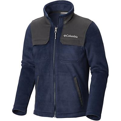 Columbia Youth Boys Steens Mountain Novelty Full Zip Fleece Jacket - Small - Collegiate Navy / Grill