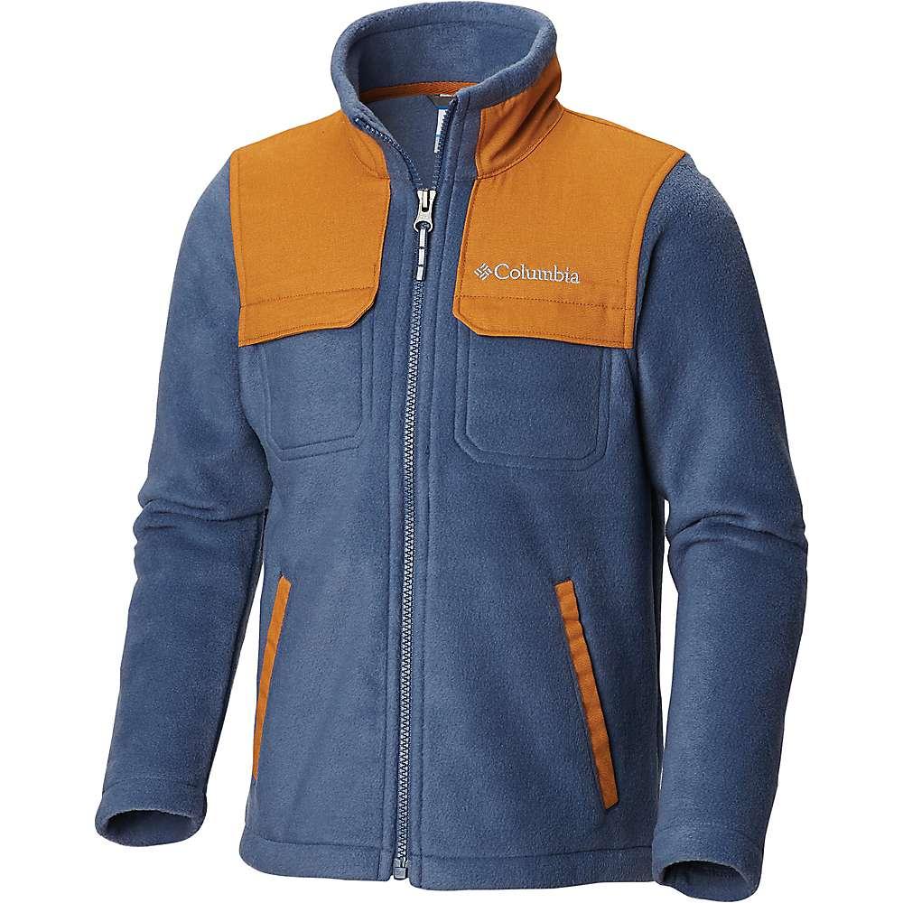 Columbia Youth Boys Steens Mountain Novelty Full Zip Fleece Jacket - XS - Dark Mountain / Canyon Gold