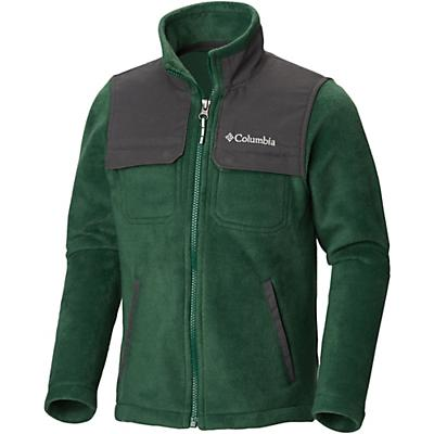 Columbia Youth Boys Steens Mountain Novelty Full Zip Fleece Jacket - Forest / Grill
