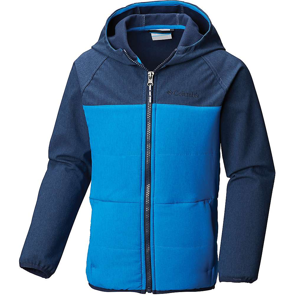Columbia Youth Boys Take A Hike Softshell Jacket - Small - Super Blue / Collegiate Navy