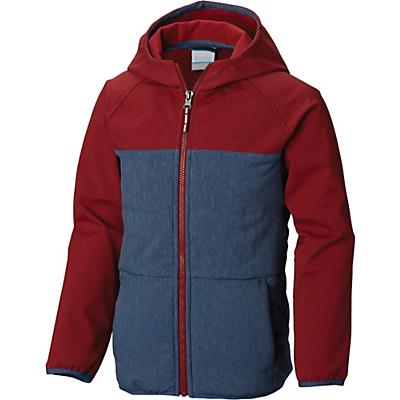 Columbia Youth Boys Take A Hike Softshell Jacket - Dark Mountain / Red Element