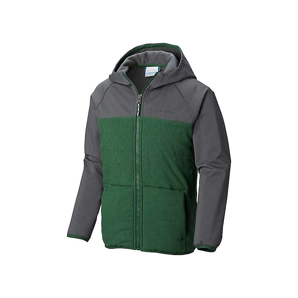 Columbia Youth Boys Take A Hike Softshell Jacket - Medium - Forest / Grill