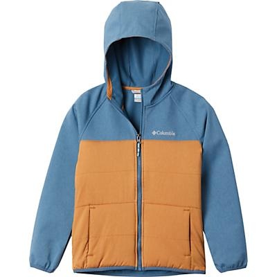 Columbia Youth Boys Take A Hike Softshell Jacket - Canyon Gold/Blue Heron