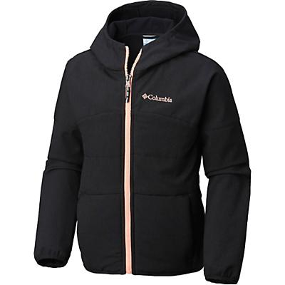 Columbia Youth Girls Take A Hike Softshell Jacket - XS - Black Heather