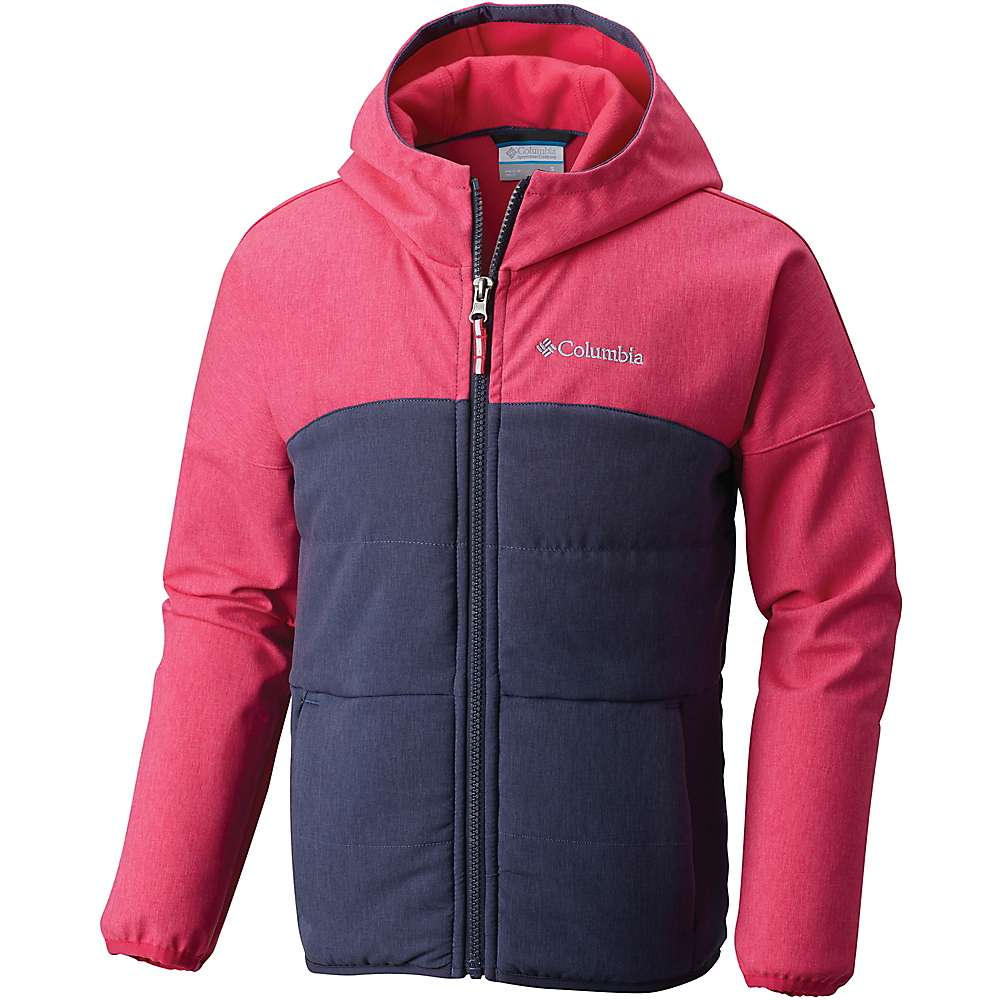 Columbia Youth Girls Take A Hike Softshell Jacket - XS - Cactus Pink Hthr / Nocturnal