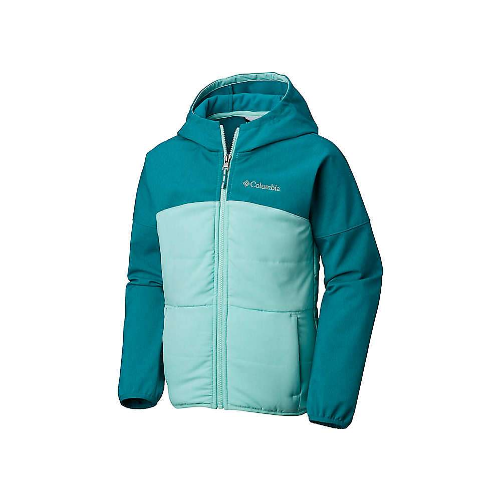 Columbia Youth Girls Take A Hike Softshell Jacket - XXS - Emerald Hthr / Pixie
