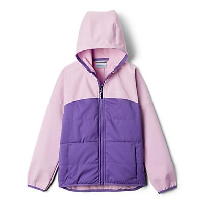 Columbia Youth Girls Take A Hike Softshell Jacket - XS - Grape Gum/Pink Clover