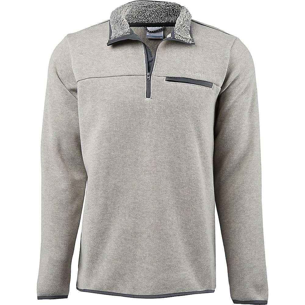 3cb7ee8083f341 Columbia Men's Terpin Point III Half Zip Sweater - Medium - Stone