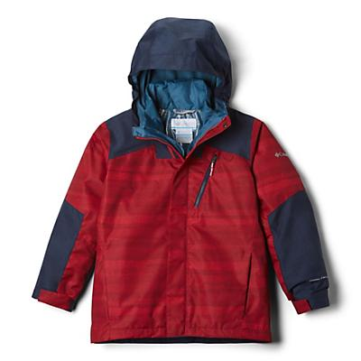 Columbia Youth Boys Whirlibird II Interchange Jacket - Mountain Red Strokes/Coll Navy