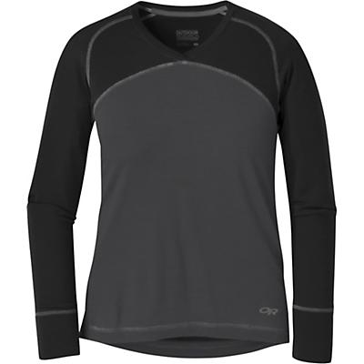 Outdoor Research Womens Alpine Onset V-Neck Top - Storm / Black