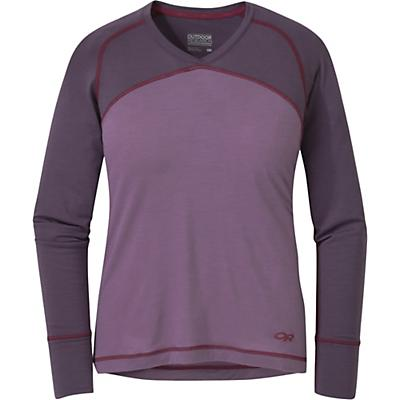 Outdoor Research Womens Alpine Onset V-Neck Top - Amethyst / Pacific Plum