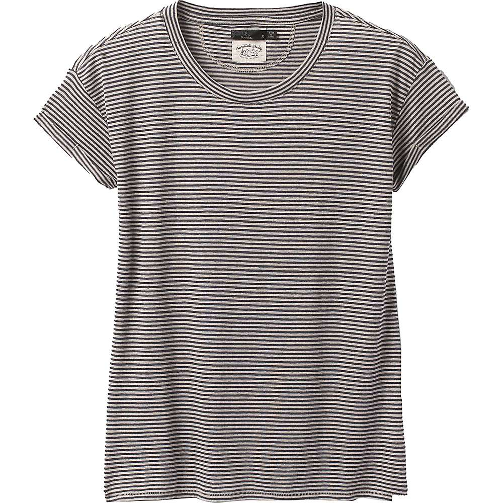 Cheap Prana Womens Cozy Up T-Shirt - Small - Pebble Grey Heather Stripe