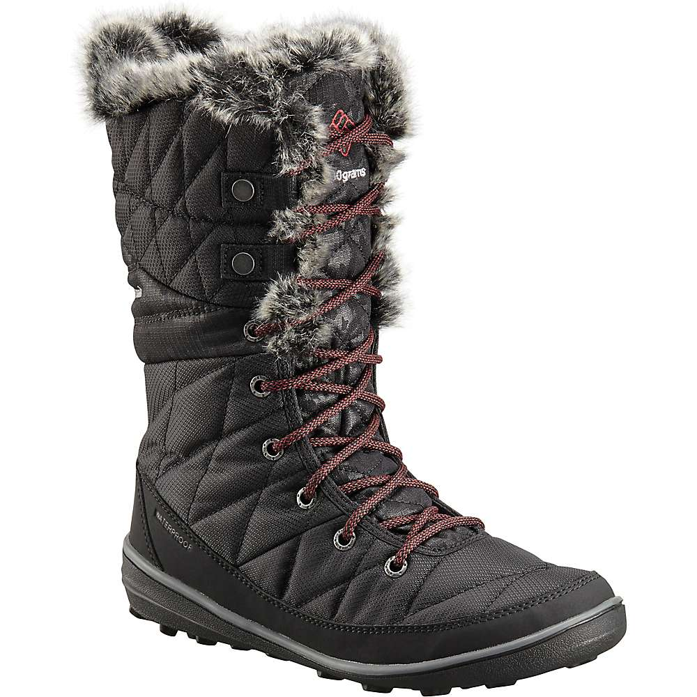 Columbia Women's Heavenly Camo Omni-Heat Boot - 6 - Black / Marsala Red thumbnail