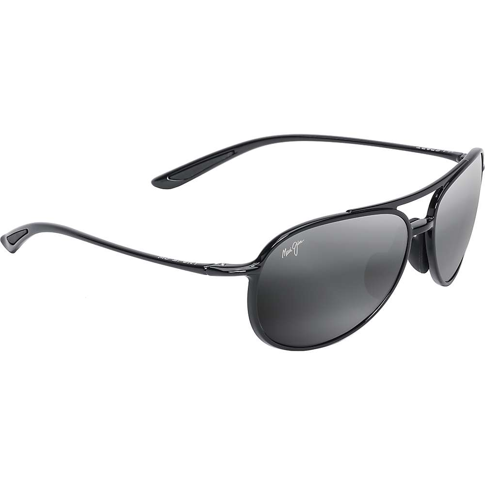 Maui Jim Alelele Bridge Polarized Sunglasses - One Size - Gloss Black / Neutral Grey Polarized
