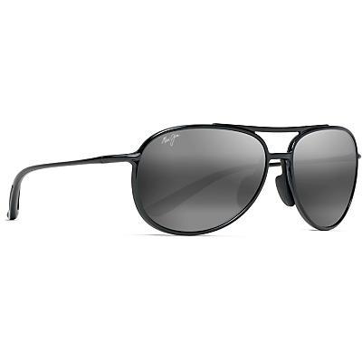 Maui Jim Alelele Bridge Polarized Sunglasses - Gloss Black / Neutral Grey Polarized