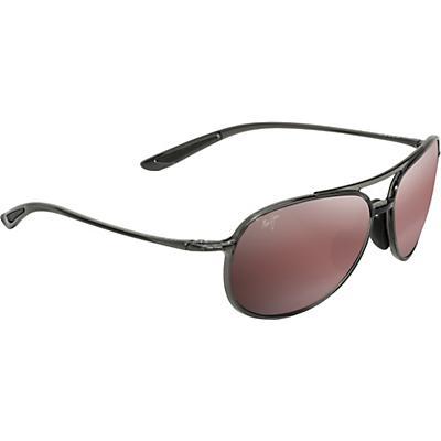 Maui Jim Alelele Bridge Polarized Sunglasses - Translucent Smoke Grey / Maui Rose Polarized