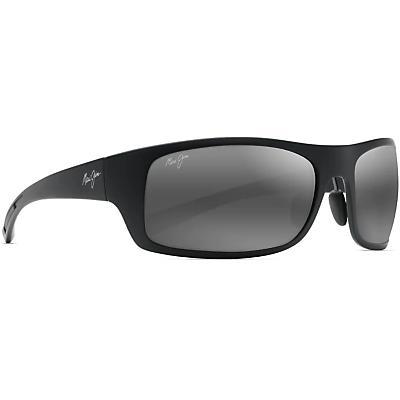 Maui Jim Big Wave Polarized Sunglasses - Matte Black / Neutral Grey Polarized