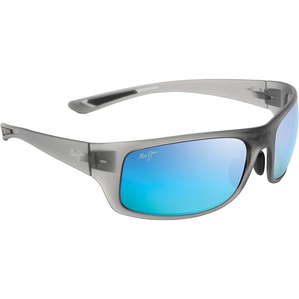 Maui Jim Big Wave Polarized Sunglasses - One Size - Translucent Matte Grey / Blue Hawaii Polarized