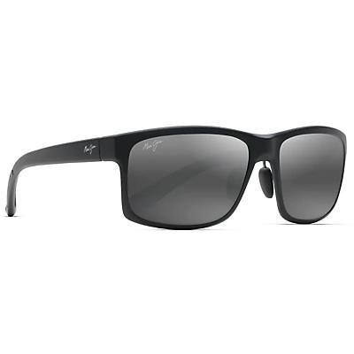 Maui Jim Pokowai Arch Polarized Sunglasses - Matte Black / Neutral Grey Polarized