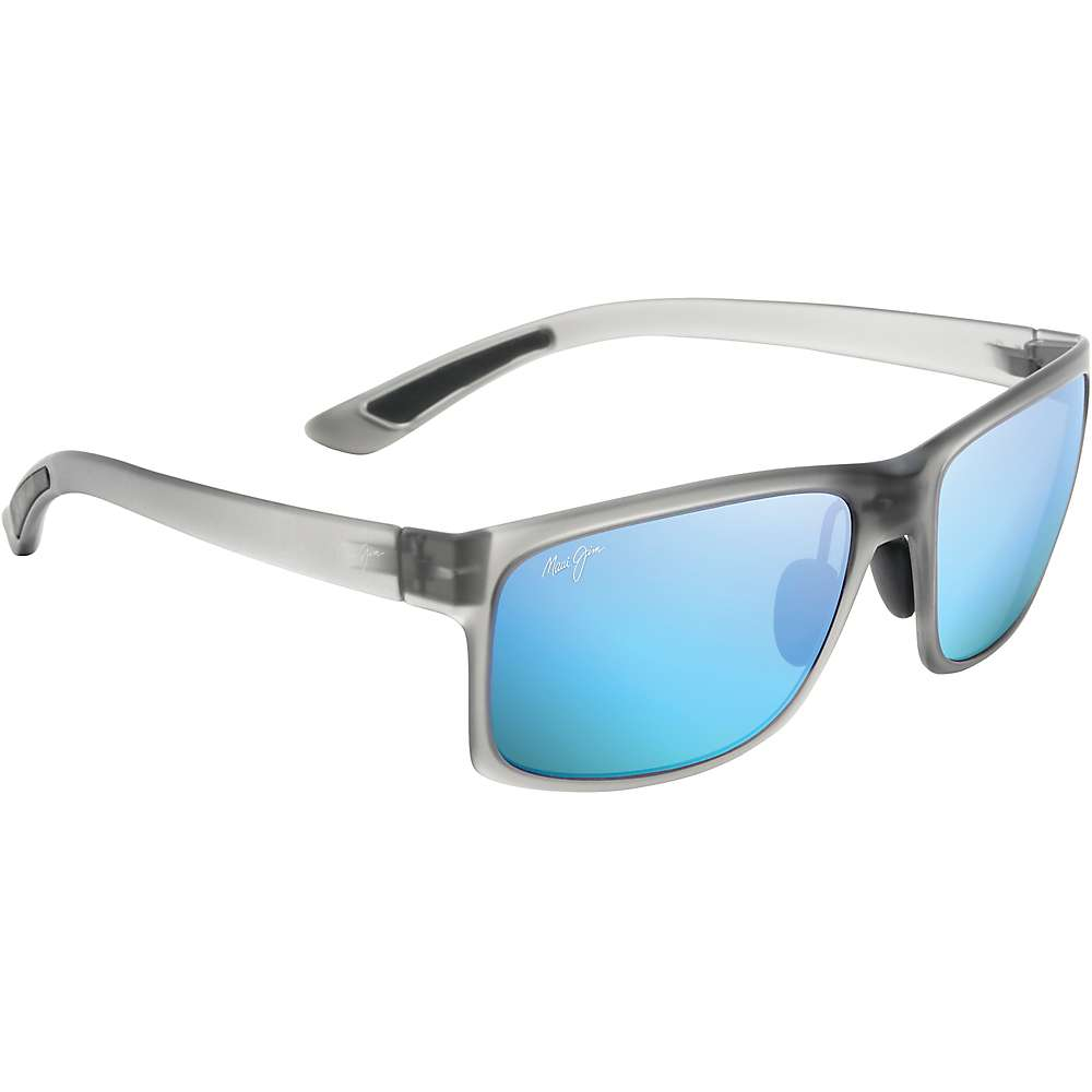 Maui Jim Pokowai Arch Polarized Sunglasses - One Size - Translucent Matte Grey / Blue Hawaii Polarized