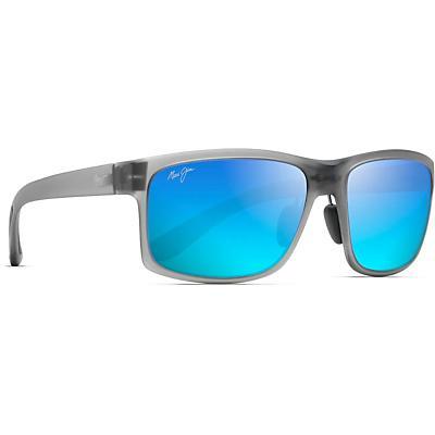 Maui Jim Pokowai Arch Polarized Sunglasses - Translucent Matte Grey / Blue Hawaii Polarized