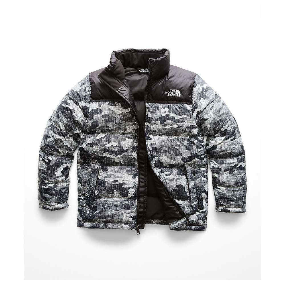 The North Face Kid's Nuptse Down Jacket - XS - TNF Black Textured Camo Print thumbnail