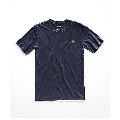 The North Face Men's Old School SS Tee Urban Navy The North Face Men's Old School SS Tee - Urban Navy - in stock now. FEATURES of The North Face Men's Old School Short Sleeve Tee Standard fit Set-in sleeves Rib on collar Embellishment technique is a no-hand, water-based, screen-printed graphic on back and logo on left chest Fabric Details 150 grams / square meter 100% Combed ringspun cotton jersey knit with enzyme wash