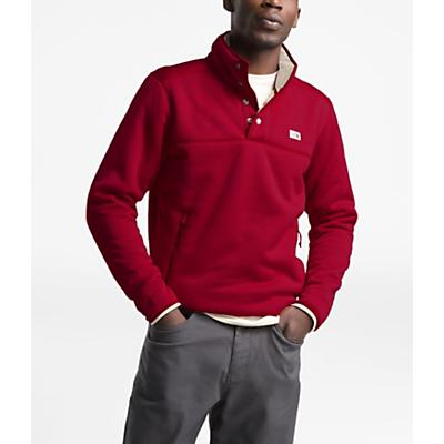 The North Face Sherpa Patrol 1/4 Snap Pullover - Cardinal Red Heather/Peyote Beige - Men