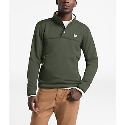 The North Face Sherpa Patrol 1/4 Snap Pullover - New Taupe Green Heather/Peyote Beige - Men
