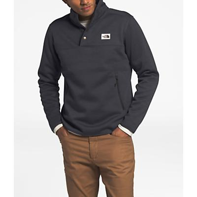 The North Face Sherpa Patrol 1/4 Snap Pullover - Weathered Black Heather/Peyote Beige - Men