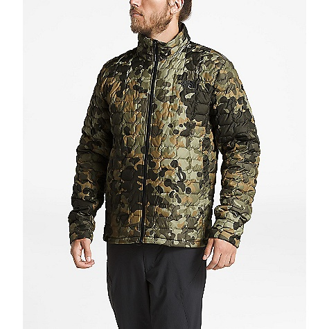 The North Face Men's ThermoBall Jacket New Taupe Green Macrofleck Camo Print