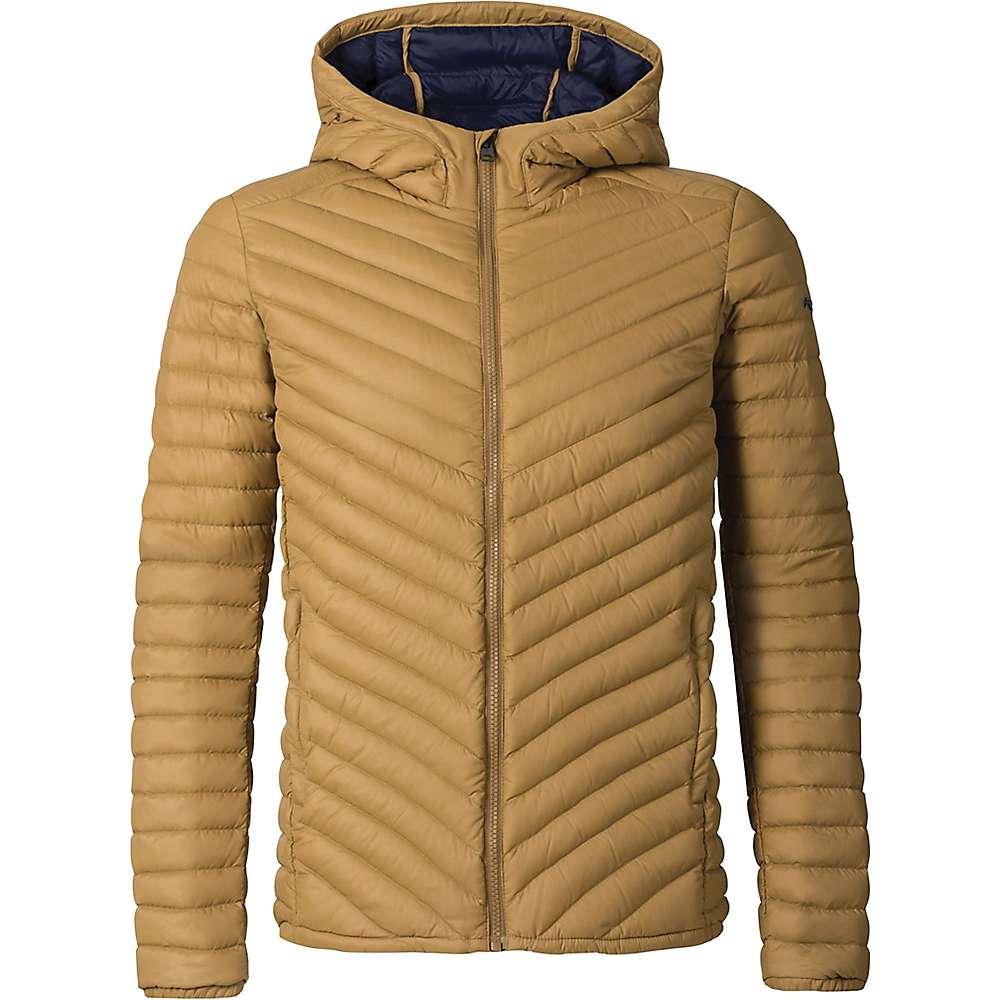 KJUS Men's Blackcomb Hooded Down Jacket - 50 - Bronze Brown / Blue