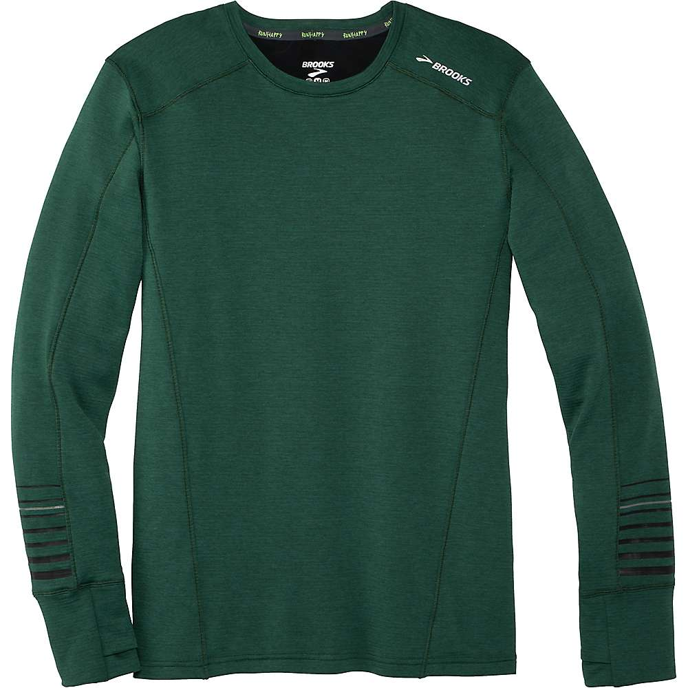 Brooks Men's Notch Thermal LS Top - Small - Heather Spruce / Black thumbnail