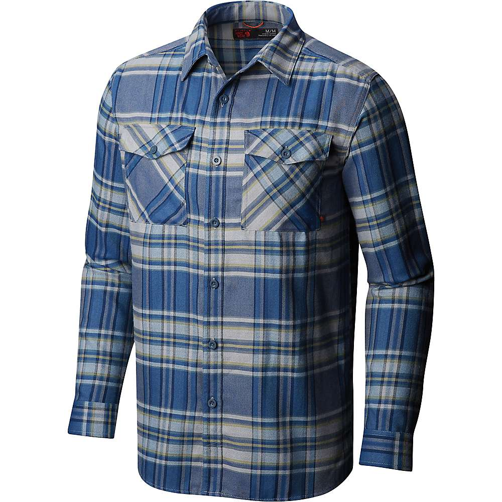 b9473b3f Mountain Hardwear Men's Trekkin Flannel LS Shirt - Small - Machine Blue